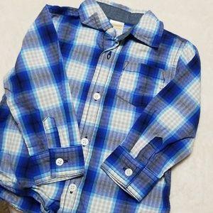 Button up blue checkered shirt
